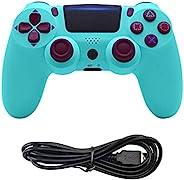 PS4 游戏控制器无线控制 PS4 - 操纵杆游戏手柄,适用于 Sony 索尼 Playstation 4,Dual Shock 4,遥控迷你 LED,USB 线,兼容 PS4/PS4 Pro/PS4 Slim/PC(浅