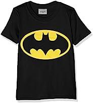 DC 漫画男孩蝙蝠侠标志短袖 T 恤