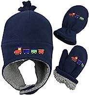 N'Ice Caps 男童和婴儿夏尔巴内衬羊毛刺绣帽