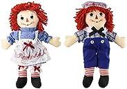 Bundle of 2 Aurora Dolls - Large 16'' Classic Raggedy Ann and Ragg