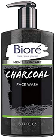 Bioré 男士护肤炭洗面奶,6.77 液体盎司,深层清洁毛孔,清爽肌肤