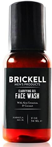 Brickell 男士洁面啫喱,天然*丰富的泡沫日常洁面乳,蕴含天竺葵,椰子和芦荟,2 盎司(约 56.7 克),香味