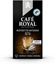 咖啡厅皇家 Ristretto Intenso 强力版 Nespresso 兼容铝制咖啡豆荚,0.053999 kg