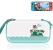 Nintendo Switch 便携包,*版保护开关保护套,适用于动物穿越风扇,带支架开关旅行保护套配件,带开关屏幕保护膜