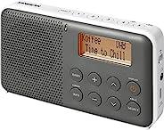 Sangean DPR-64 灰色白色 Sangean DPR-64 DAB+,FM 收音机,闹钟,贪睡,LCD 显示屏,立体声耳机插孔,内置立体声等级 D 放大器 灰色-白色