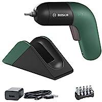 Bosch 博世 電動螺絲刀 IXO (6代,帶有充電站和微型USB充電器的集成電池,變速控制,箱裝),綠色
