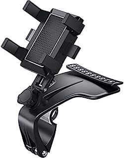 仪表板车载手机支架带 1200 度旋转,Cskun 手机支架适用于 3 至 7 英寸智能手机,通用汽车夹支架兼容 iPhone、Samsung Glaxy 等
