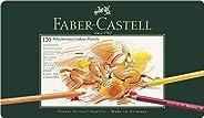 Faber-Castell 辉柏嘉 110011 - POLYCHROMOS 艺术家级油性彩色铅笔,金属笔盒,120支