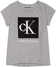 Calvin Klein 女童可翻转亮片 T 恤