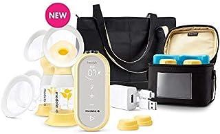 Medela 美德乐 Freestyle Flex 吸奶器,附赠 100 个*储存袋,封闭系统安静手持便携式双电动吸奶器,移动连接智能泵,带触摸屏 LED 显示屏