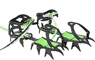 HUAYE BRS 14 齿冰爪雪鞋钉冬季雪地靴鞋套夹带登山扣,适用于户外雪地徒步和攀岩(2.5)