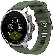 Polar Grit X 耐用户外手表,带 GPS、指南针、高度计 耐用 适合远足,绿色,M/L