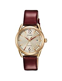 Citizen 女 FE6083-05P DriveFE6083-05P Analog 皮革 Burgandy FE6083-05P watches
