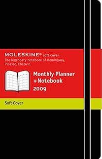 Moleskine Monthly Planner 笔记本 超大号 黑色 软封面 2010