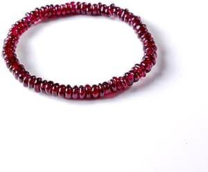晶隆福 天然酒红石榴石手链 款式时尚新颖 女性必备 增添魅力 送佳人