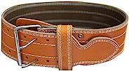 举重腰带,10.16 厘米宽眼镜蛇手柄,优质真皮腰带,男女可调节举重支撑