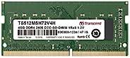 Transcend 商业用 业务用/产业用 搭载Samsung DRAM DDR4-2400 ECC SO-DIMM 1Rx8 4GB 1.2V TS512MSH72V4H
