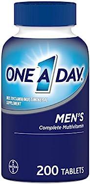 One-A-Day 男士复合维生素补充剂 补充维生素A、维生素C、维生素D、维生素E和锌、B12、钙等 200片