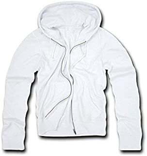 DECKY White Classic fit full zip hoodie