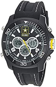 US Military Men's Analog-Digital Chronograph Black Silicone Strap Watch by Wrist Armor