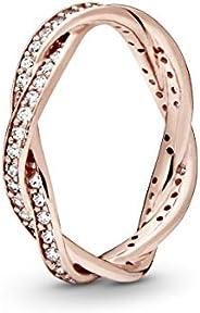 Pandora 潘多拉 女士戒指 周年紀念 銀色鍍金 52 (16.6) 180892CZ