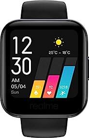 realme 手表 TFT-LCD 智能手表。 Android 5.0 + 和蓝牙 5.0 ( 10 米 ) 防护等级 IP68,黑色