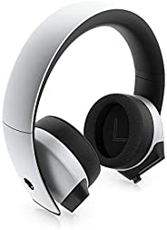 Alienware 7.1 PC 游戏耳机 AW510H-灯:50 毫米高分辨率驱动器 - 降噪麦克风 - 多平台兼容(PS4,Xbox One,Switch)通过 3.5 毫米插孔,灰色