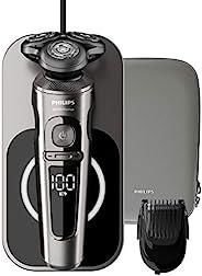 Philips 飞利浦 9000系列 SP9860/16 干湿两用电动剃须刀 纳米技术精密刀片,修剪器,无线充电的Qi充电座