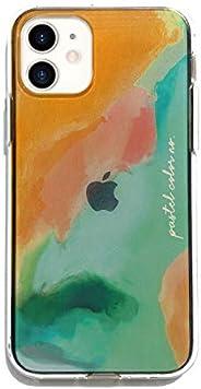 Dparks iPhone 12 手机壳 12 Pro 手机壳 浅色系 [ 柔软 防指纹 TPU Qi充电 无线充电 iPhone 12 专业 手机套 ] 软透明手机壳 Pastel Color DS19822i12P(