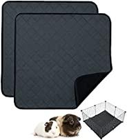 RIOUSSI 豚鼠羊毛笼衬垫,高吸水性可水洗豚鼠床上用品适用于中西部和 C&C 豚鼠笼,带防漏底部。CC 2X2,深灰色,