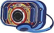 VTech 伟易达 Kidizoom Touch(蓝色),双镜头儿童摄像头,数码相机,用于照片和视频,儿童动作相机带有趣效果和游戏,儿童数码相机,适合 6 岁以上女孩和男孩