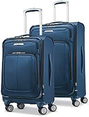 Samsonite 新秀麗 Solyte Softside 可擴展行李箱 帶萬向輪 藍色 2-Piece Set (20/25)