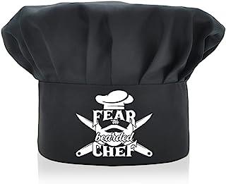 AGMdesign 趣味厨师帽 Fear The Bearded Chef可调节厨房烹饪帽 男女 黑色 母亲节/父亲节/生日礼物 送给他、她、妈妈、爸爸、朋友的生日礼物