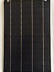 FlexSolar 6W 便携式太阳能充电器面板小型太阳能面板太阳能充电器适用于电子设备防震移动电源充电器,5V USB 调节输出,适用于智能手机、移动电源和 GPS 设备