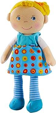 HABA 303731 - 毛绒娃娃 Edda 柔软的布娃娃玩耍和抱抱抱抱婴儿 *个由柔软可洗材料制成的娃娃 出生或洗礼的礼物 尺寸:25 厘米