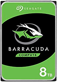 Seagate 希捷 BarraCuda 8TB 内置硬盘HDD – 3.5英寸(约8.89厘米)Sata 6 Gb / s 5400 RPM 256MB高速缓存,用于台式计算机–无挫折包装(ST8000DM004)