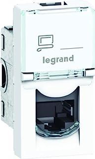 Legrand LEG99645 RJ-45 插座,适用于 EMS / 电话,1 个马赛克模块