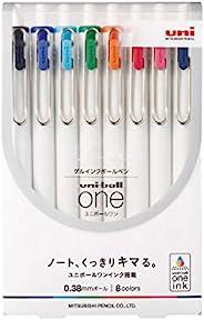 三菱铅笔 凝胶圆珠笔 uniball One 0.38 8色套装 UMNS388C