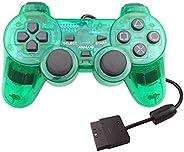 ForBEST PS2 控制器有线控制器,双减震双振动电机游戏手柄 PS2 控制器 适用于索尼 Playstation 2