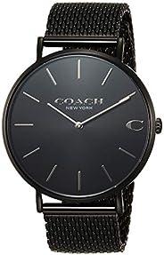 [蔻驰] 手表 CHARLES 14602148 男士 黑色 [平行进口商品]