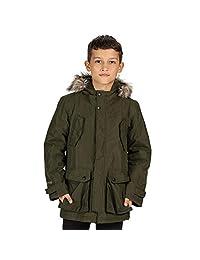 Regatta Pazel 儿童防水透气贴带接缝保暖衬里连帽派克大衣