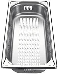 Blanco 餐饮标准 - 水槽,不锈钢,GN 1/3-65,带孔,容量 2.5 升,1件,1565814
