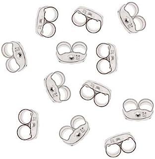 Beadaholique 12-Piece Sterling Earring Backs, 4mm, Silver