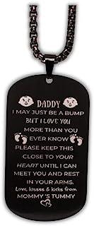 Dad to Be Gifts - 新爸爸礼物男士项链爸爸礼物期待的父亲项链新爸爸礼物怀孕公告给新爸爸*次成为礼物