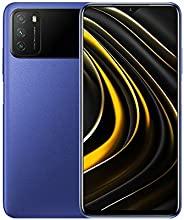 Poco M3 无锁手机 | OS Android 10,Qualcomm SM6115 Snapdragon | 662电池锂电池 6000 mAh | 双卡| GSM - 国际版 | (蓝色,128)