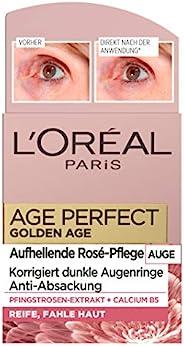 L'Oréal Paris 巴黎欧莱雅 金致臻颜系列 Golden Age 亮肤锁龄眼霜 含牡丹提取物和B5钙 可对抗眼袋 适合成熟和黄润的皮肤,
