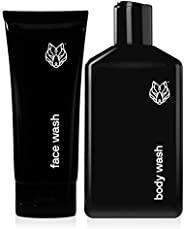 Black Wolf Nation 油性皮肤面部和沐浴露 - 活性炭和水杨酸有助于深入皮肤堵塞毛孔,溶解白头和黑头