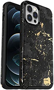 OtterBox Symmetry - 优雅超薄防坠落保护套,适用于 Apple iPhone 12 Pro Max,黑色/金色