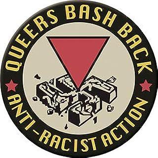 QUEERS BASH BACK - 冷冻机 MAGNET,LGBTQ *原创艺术品,7.62cm x 7.62cm