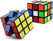 Julysgift 经典魔方拼图 3x3 教育游戏大脑急转器(2 件 S-3x3 立方体)